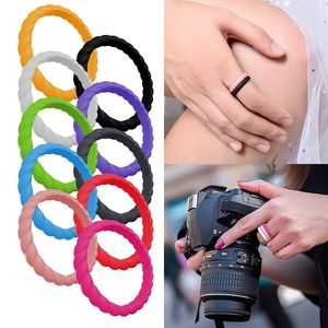10Pcs Silicone Thin Braided Rubber Band Wedding